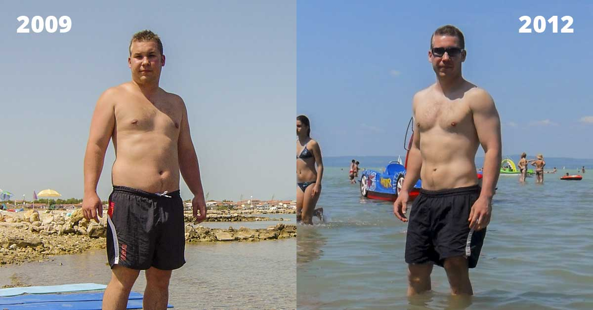 Kövés és vékony férfi